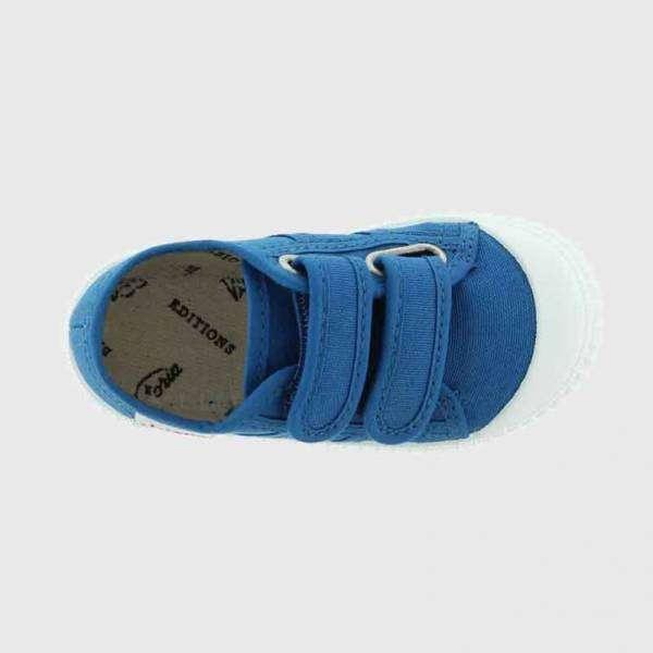victoria trainers velcro cobalt top