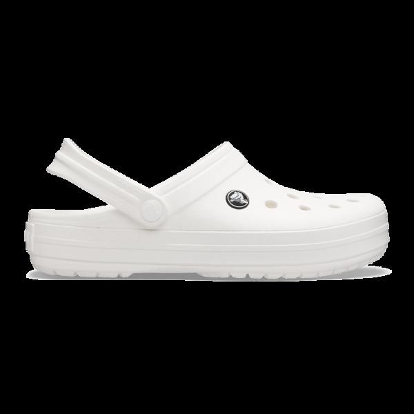 crocband clog white white