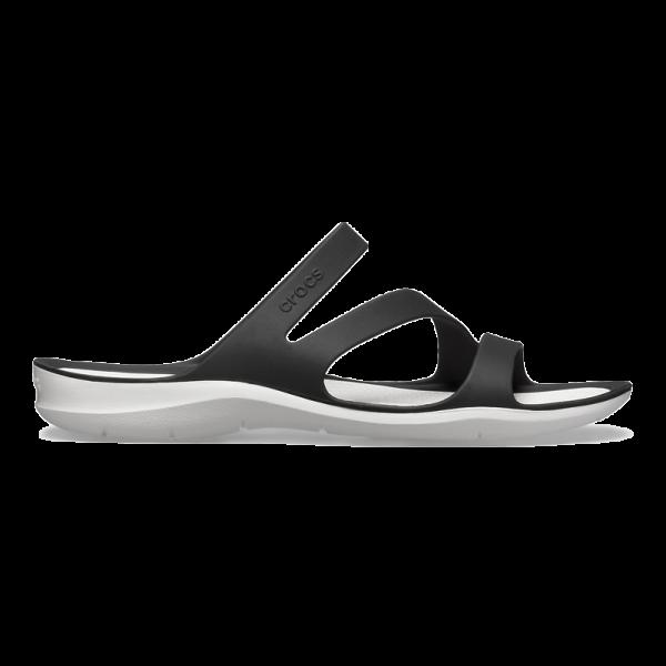 crocs sandal woman black white swiftwater
