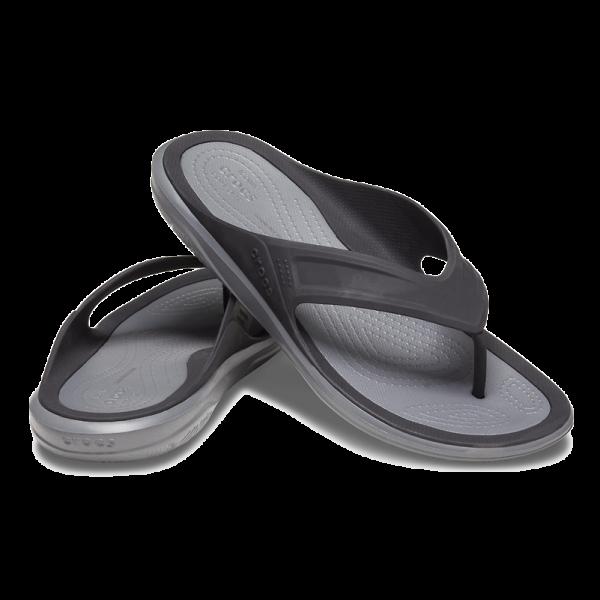 swiftwater men flip flop black grey