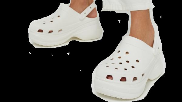 crocs bae white on
